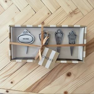 Bombay Cheese Board Silver Cheese Markers